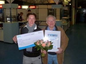 Benjamin Sonsalla und TTC-Kassenwart Norbert Wrobel